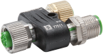 T-coupler M12 female / M12 male - female PROFIBUS