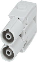 Male module, 2-pole, axial screw t.