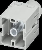 Male module, 1-pole, axial screw t.