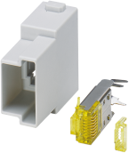 RJ45 module - male, field wireable