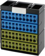 POTENTIAL TERMINAL BLOCK BLUE YELLOW