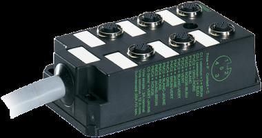 M12-DISTRIBUTOR BOX 6-WAY, 5-POLE WITHOUT LED