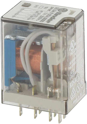 INDUSTRIAL RELAYS 4W 24VDC + DIODE