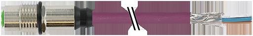 M12 female receptacle B coded rear mount Profibus