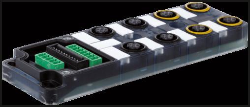EXACT12 SAFETY, GRUNDMODUL P1-4: M12, 5 POLE LED